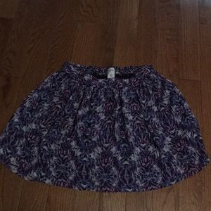 Short A-line patterned skirt